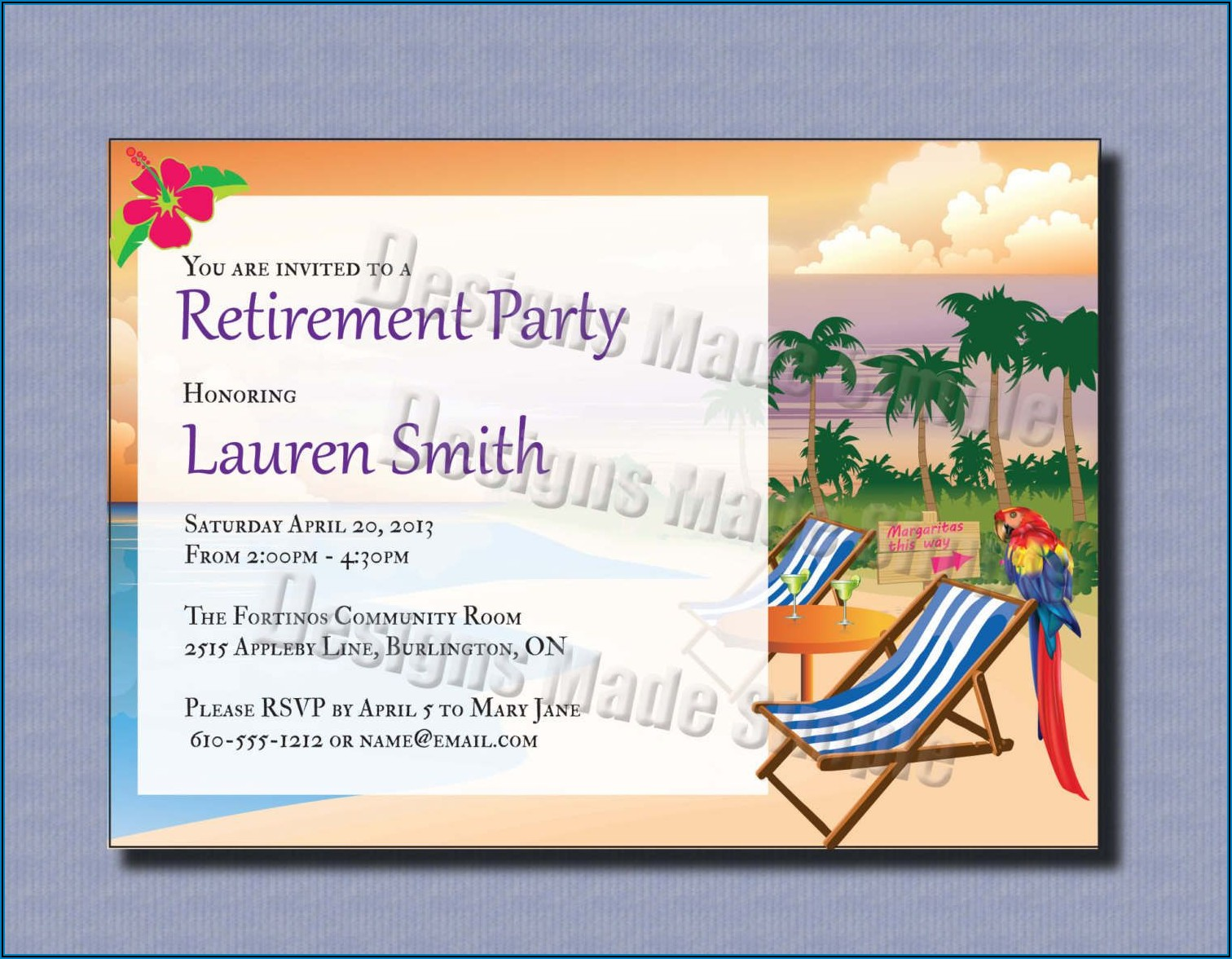 Retirement Party Save The Date Template