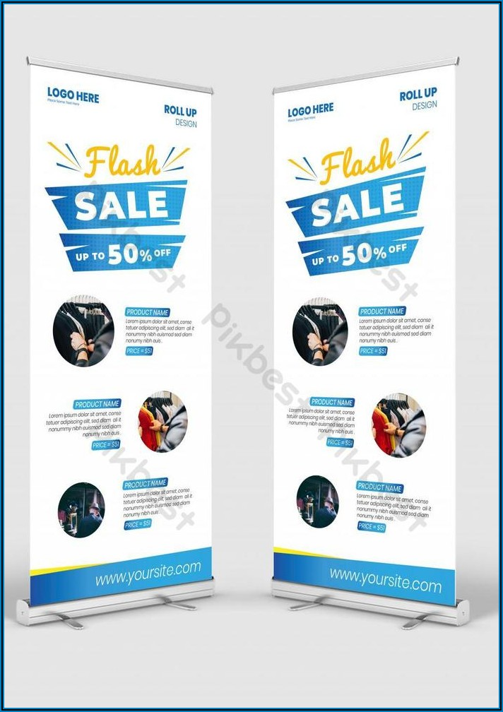 Roll Up Banner Design Template Free Download