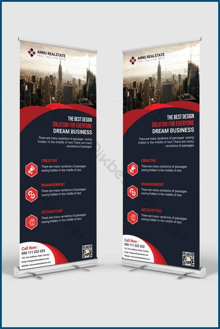 Roll Up Banner Design Template Psd Free Download