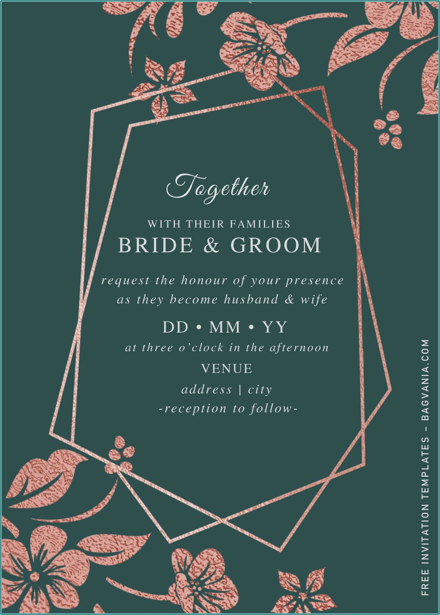 Rose Gold Invitations Template