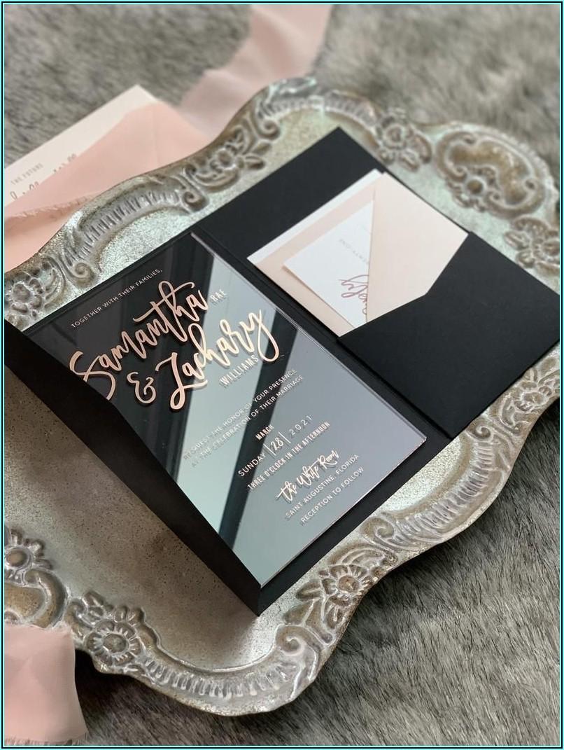 Rose Gold Invitations Wedding