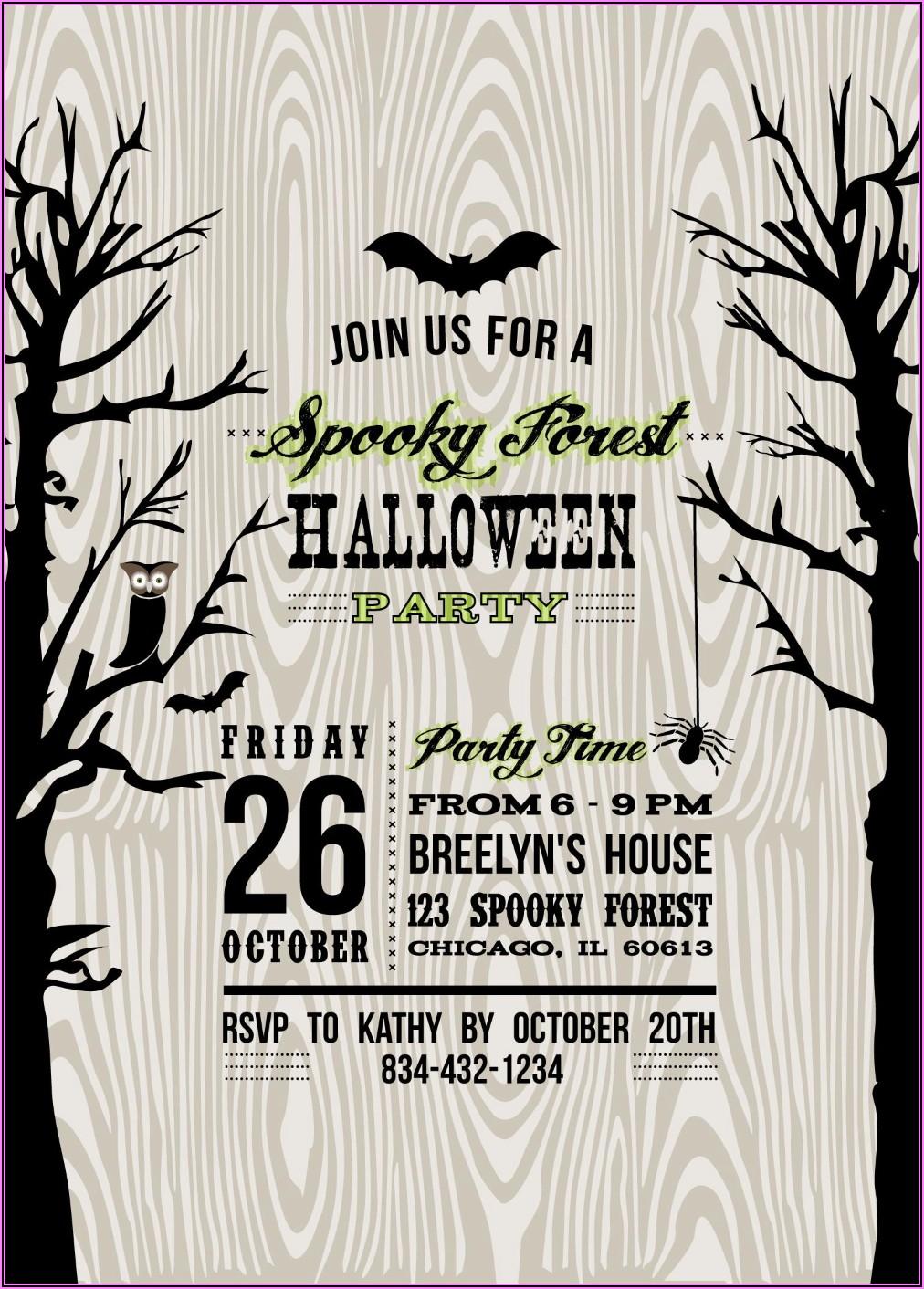 Scary Halloween Invitation Wording
