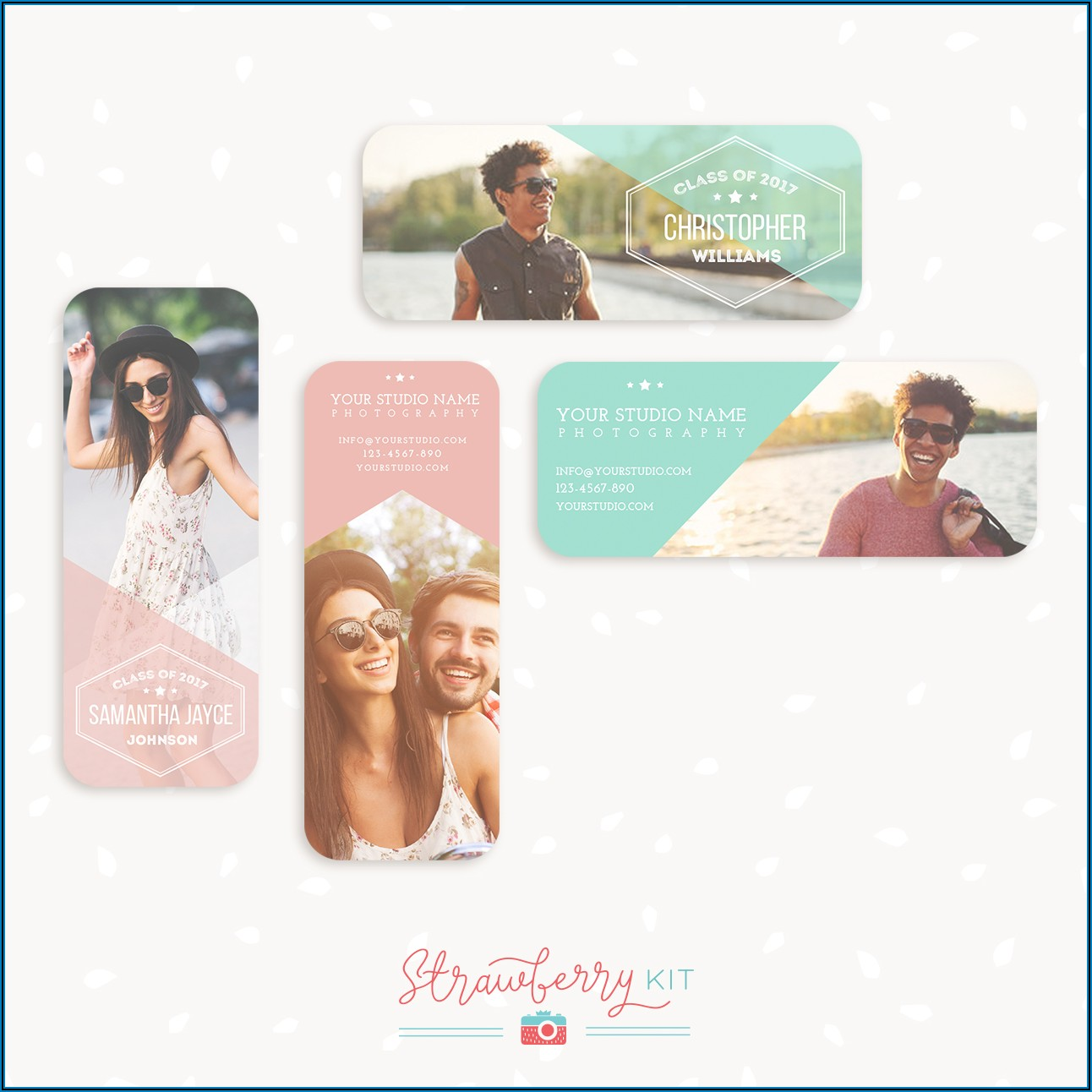 Senior Rep Cards Templates For Photographers