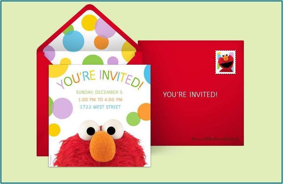 Sesame Street 1st Birthday Invitation Template