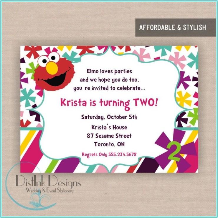Sesame Street 2nd Birthday Invitation Wording