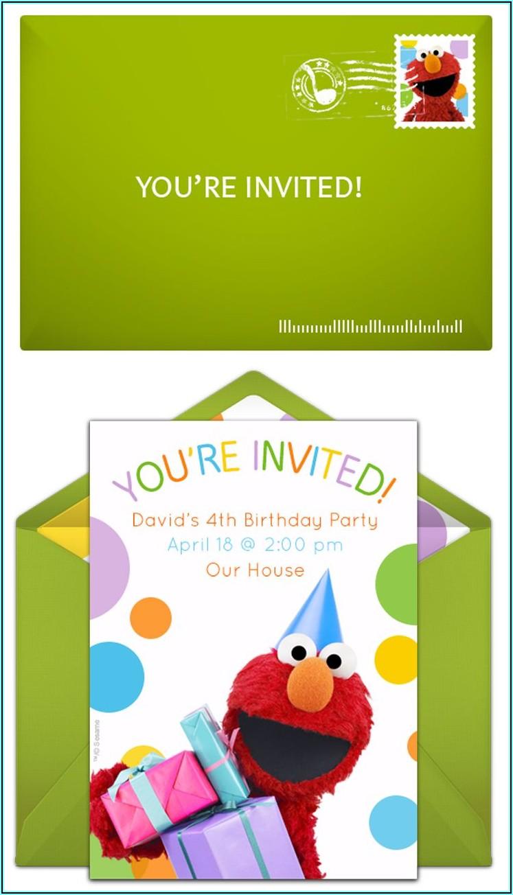 Sesame Street Birthday Invitations Online