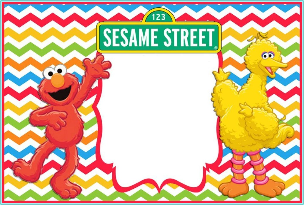Sesame Street Birthday Invitations Template