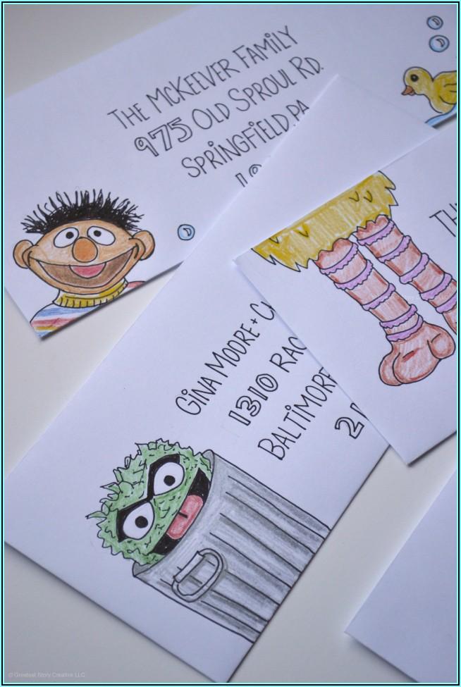 Sesame Street First Birthday Invitations