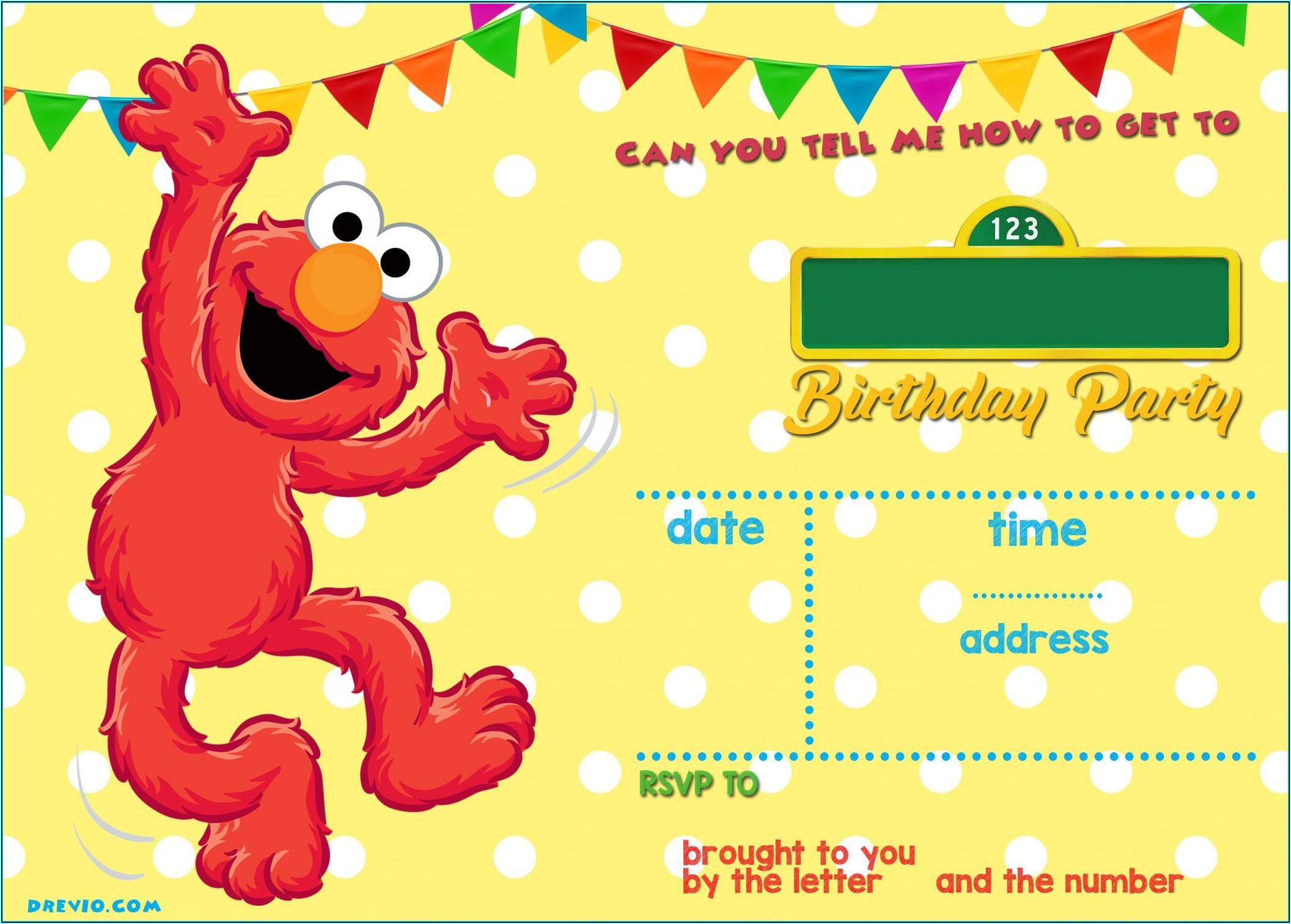 Sesame Street Invitations 1st Birthday
