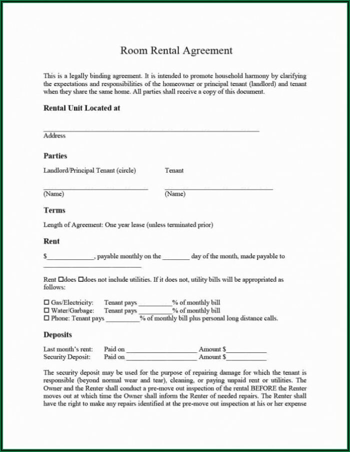 Short Term Rental Lease Forms