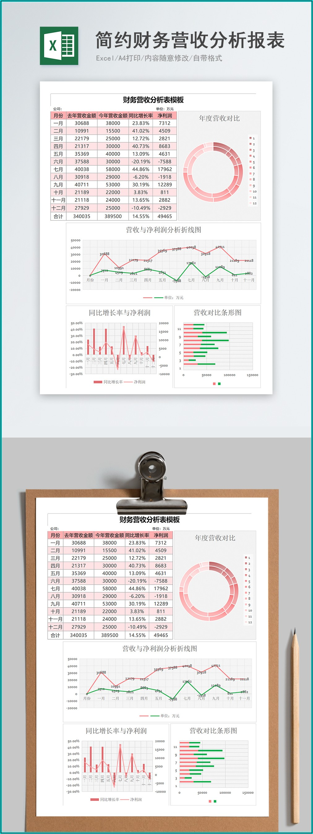 Simple Financial Statement Template Excel