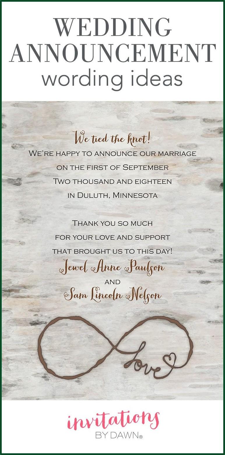 Small Destination Wedding Invitation Wording