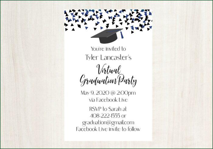 Standard Graduation Announcement Size