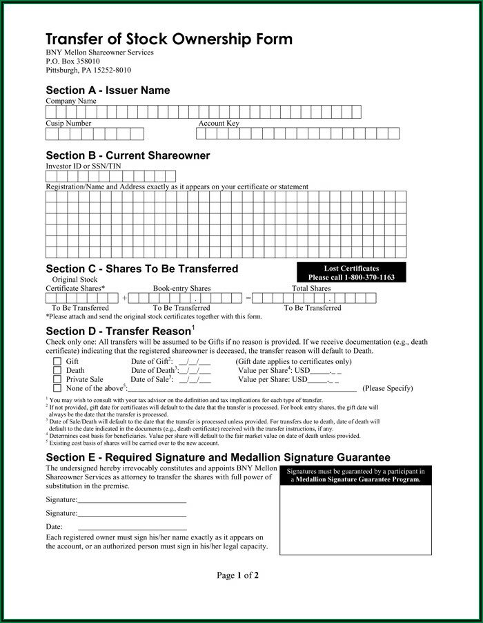 Stock Repurchase Agreement Form