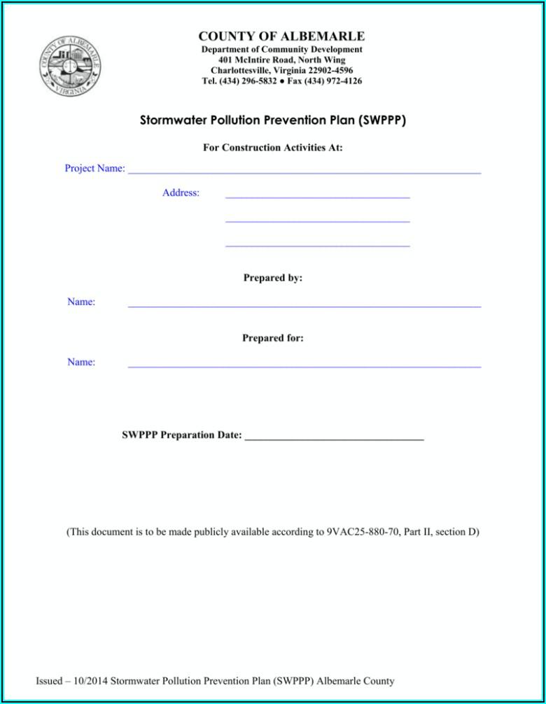 Swppp Inspection Form Virginia