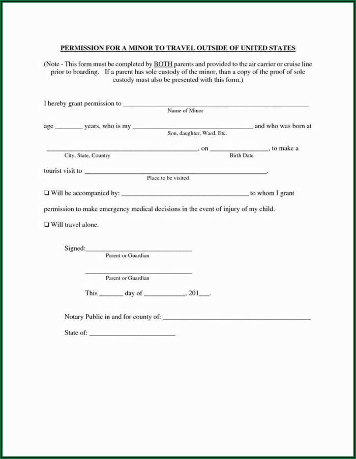 Temporary Transfer Of Guardianship Form