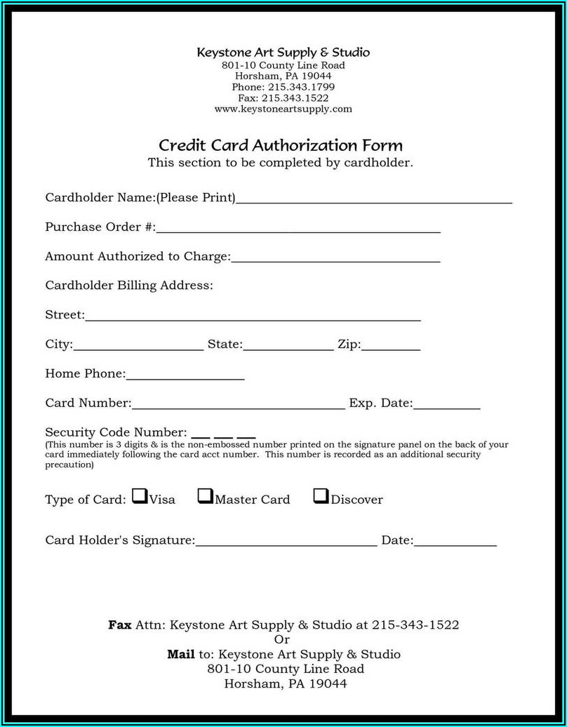 Tenant Credit Check Authorization Form