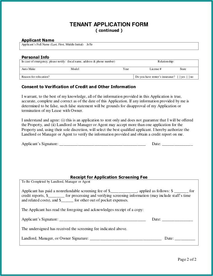 Tenant Credit Check Consent Form