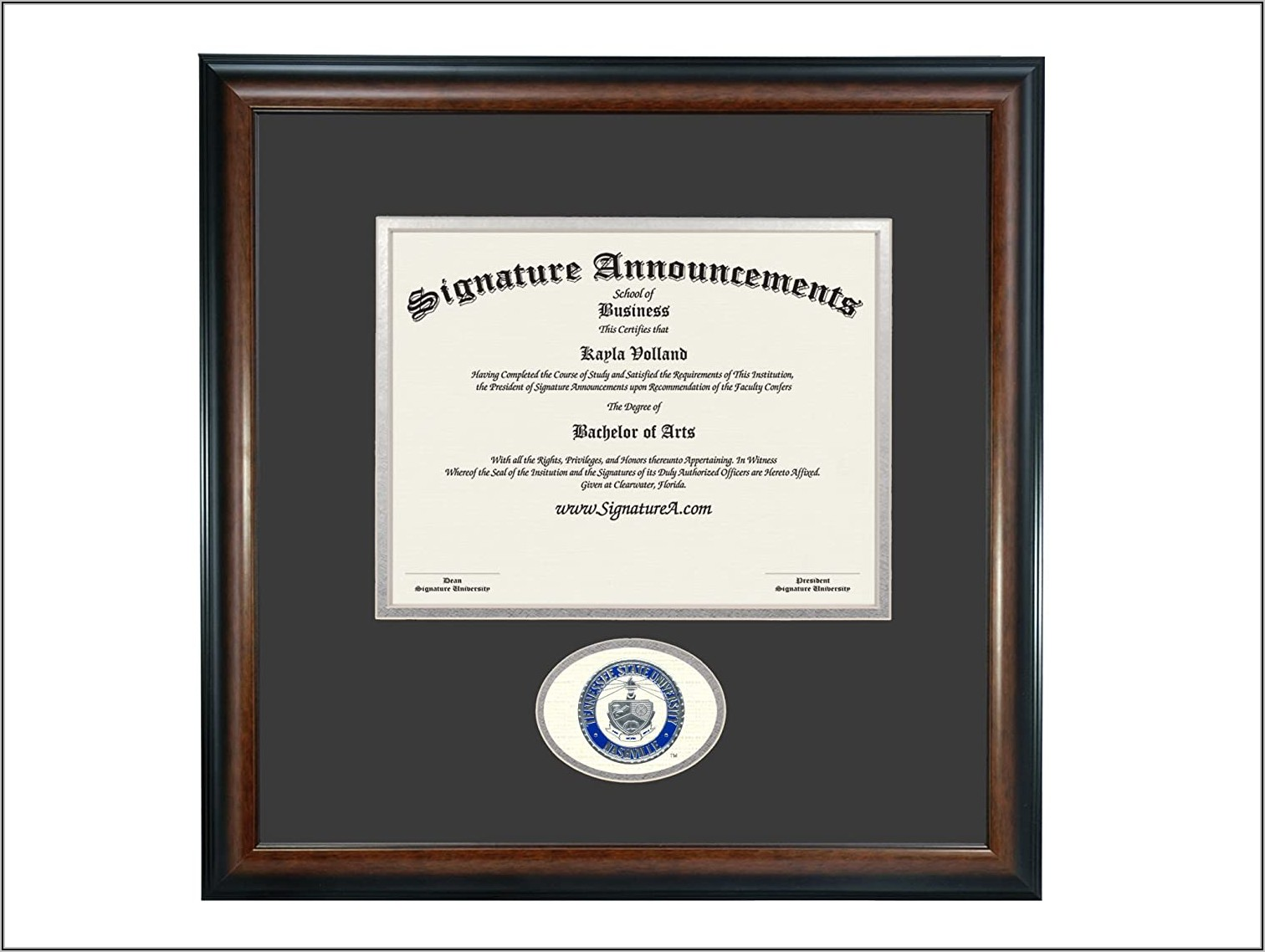 Tennessee State University Graduation Announcements