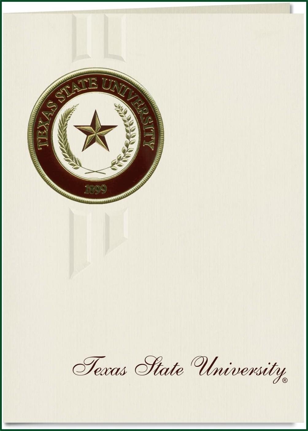 Texas State University Graduation Announcements