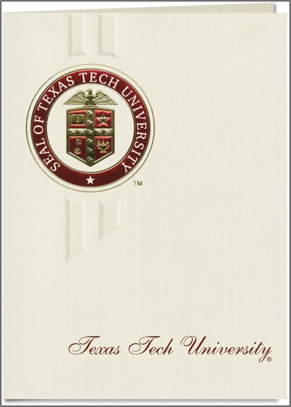 Texas Tech University Graduation Announcements