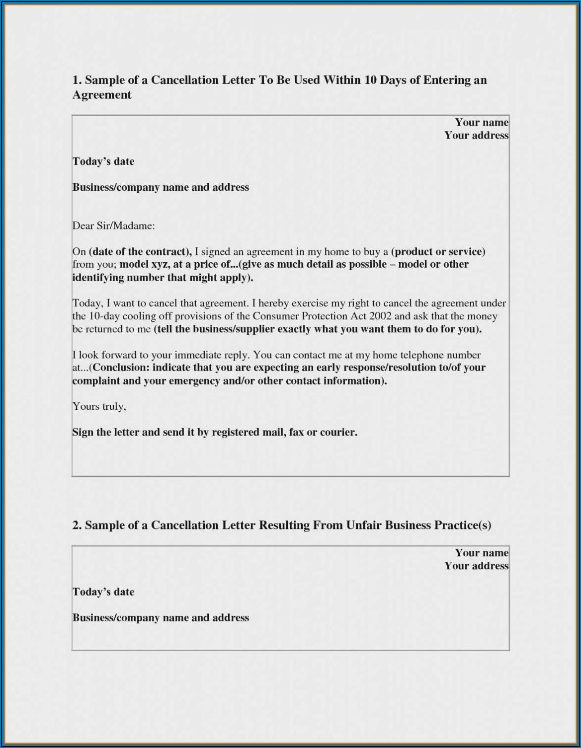 Timeshare Rescission Letter Template