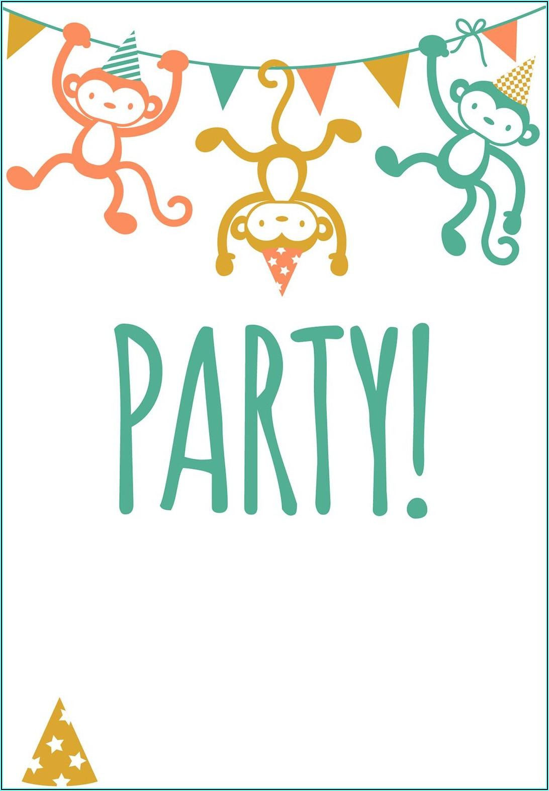 Toddler Birthday Invitation Templates