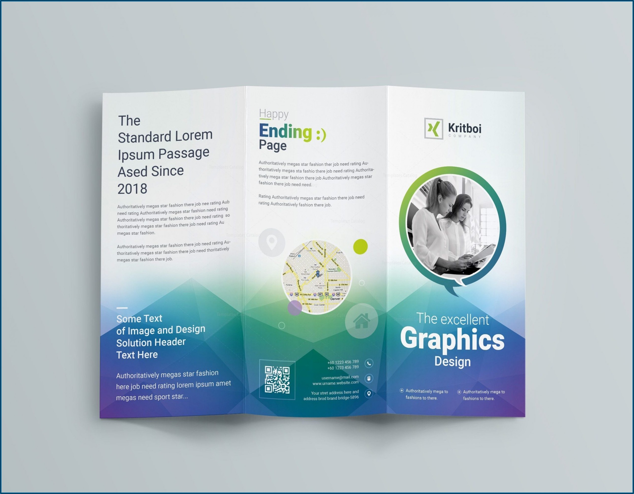 Tri Fold Brochure Template Free Download Powerpoint