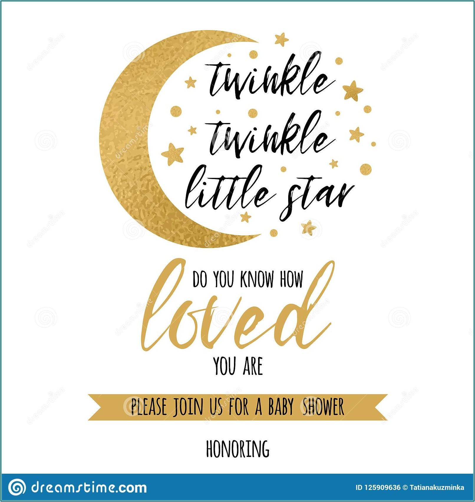 Twinkle Twinkle Little Star Gender Reveal Invitations Free Template