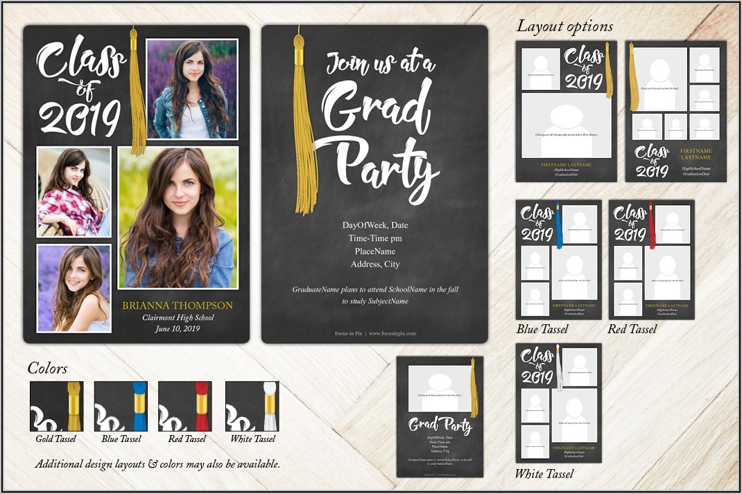 Two Sided Photo Graduation Announcements