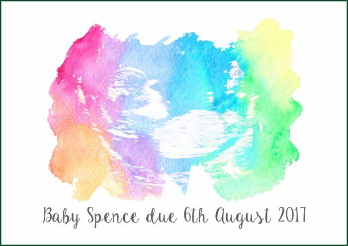 Ultrasound Pregnancy Announcement Cards