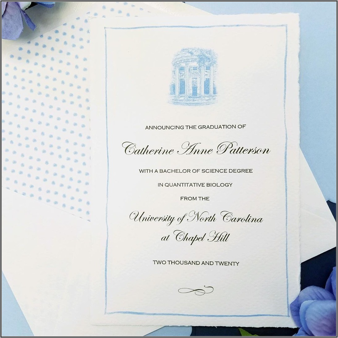 Unc Chapel Hill Graduation Announcements