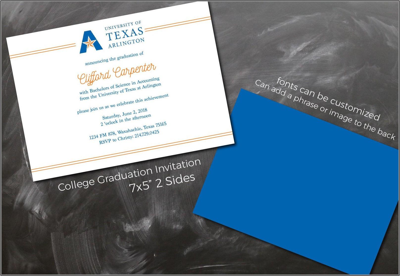 University Graduation Announcement Wording