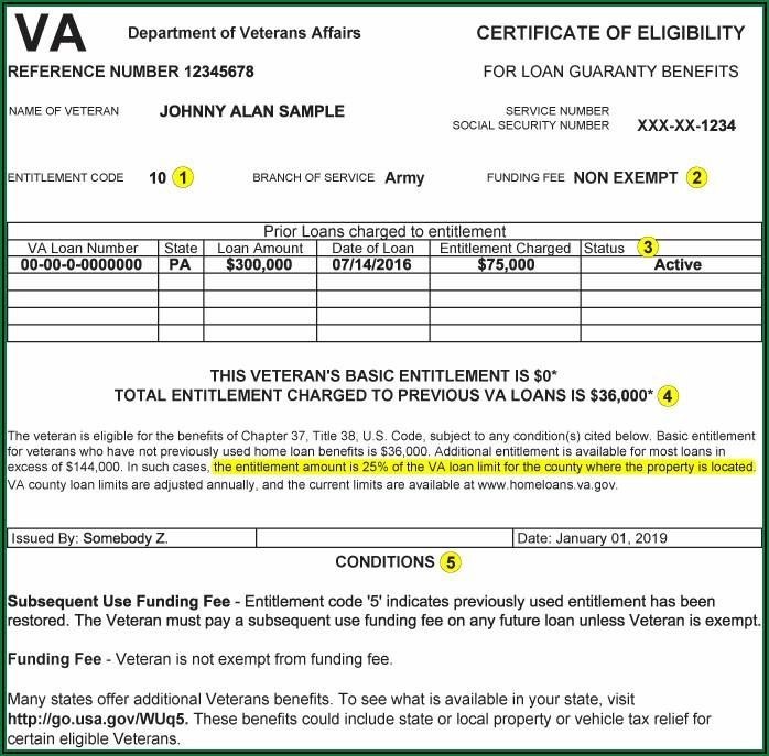 Va Loan Eligibility Certificate Application