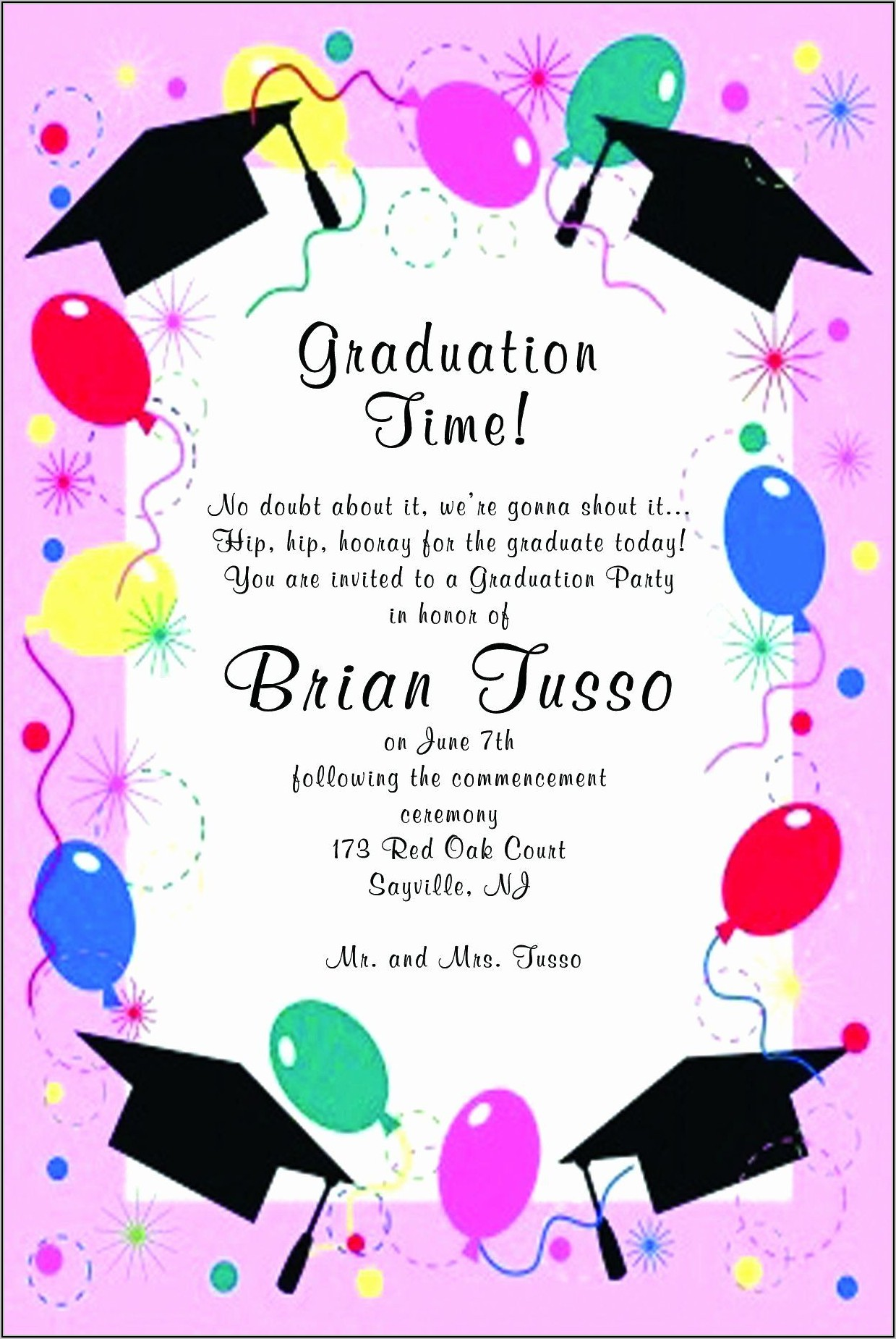 Walmart Photo Graduation Announcements
