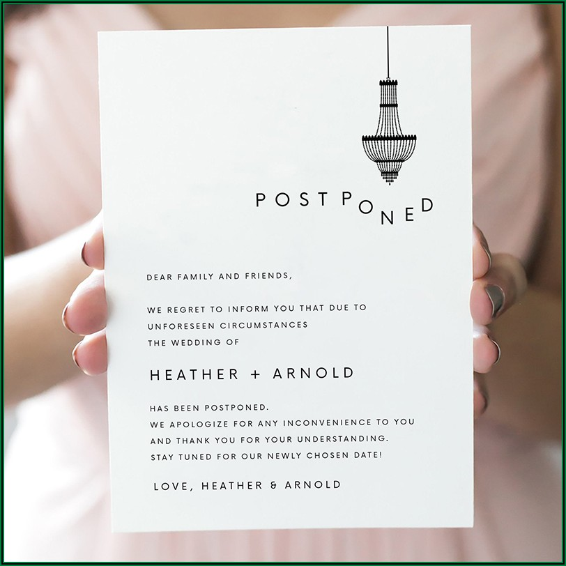 Wedding Announcement Wording For Uninvited Guests Due To Covid