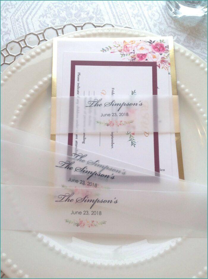 Wedding Invitation Belly Band Ideas