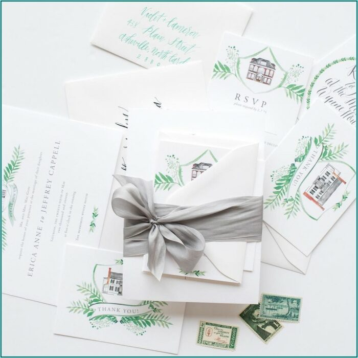 Wedding Invitation Belly Band Ribbon