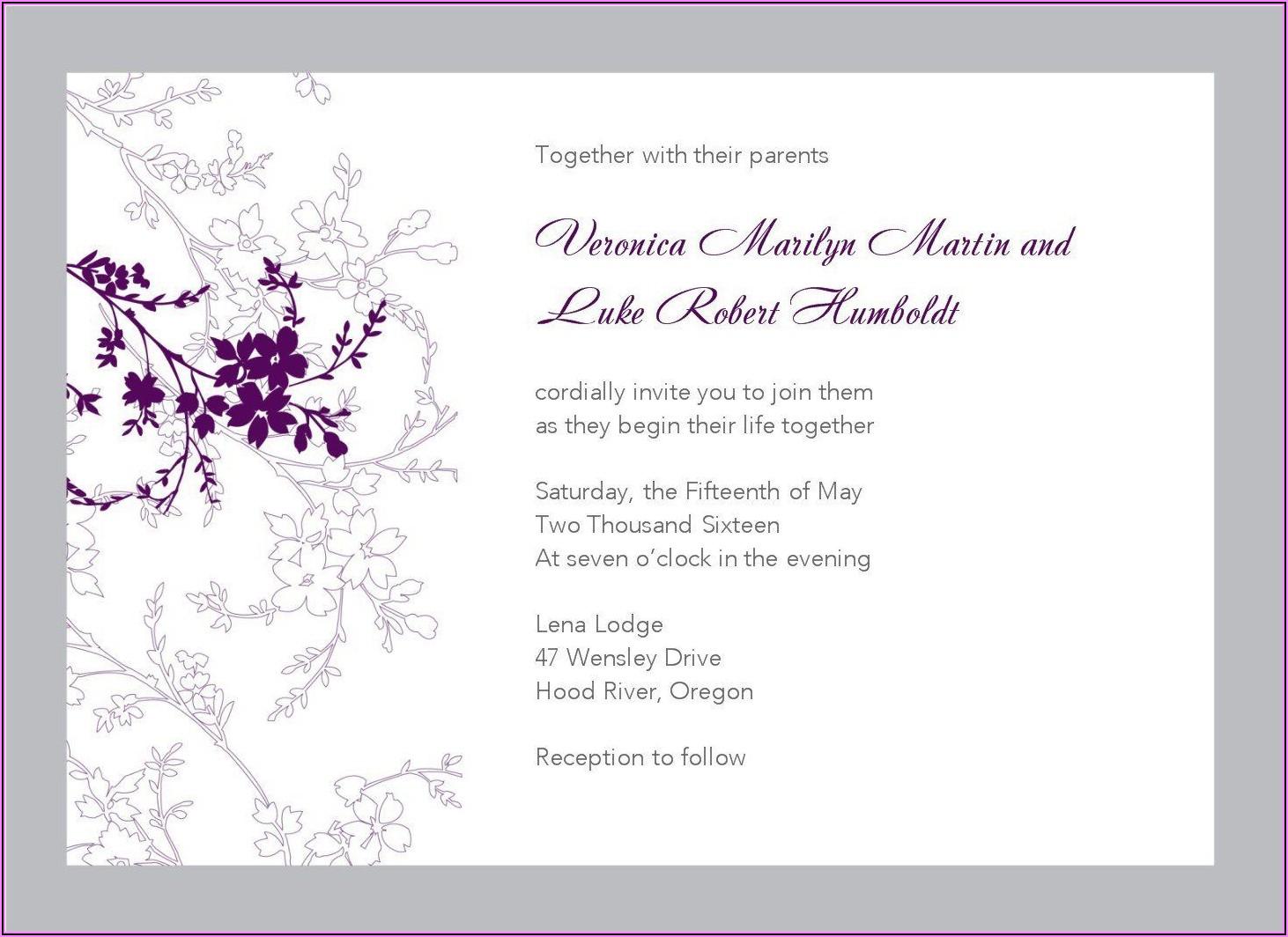 Wedding Invitation Templates Online Free