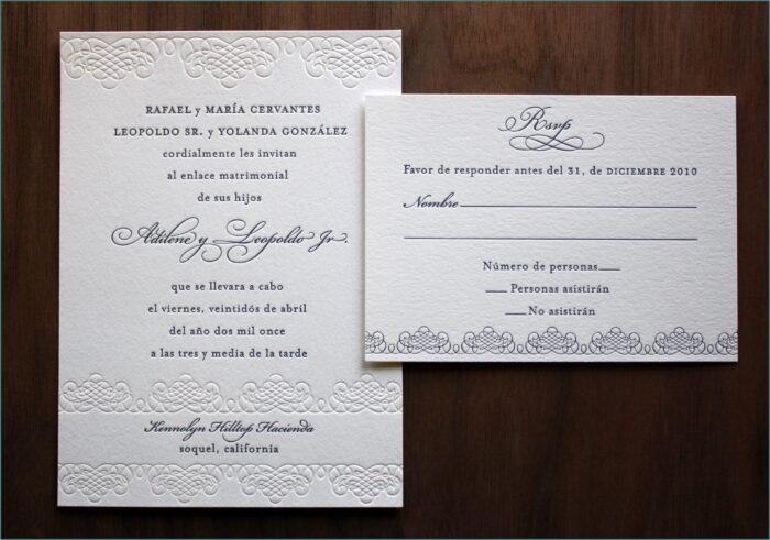 Wedding Invitations Wording Samples In Spanish