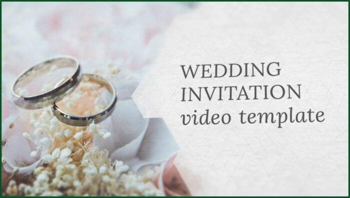 Wedding Invite Video Template Free