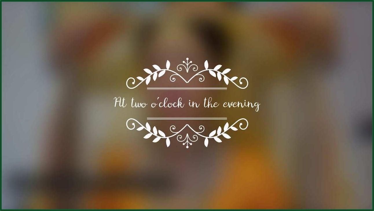 Wedding Invite Video Template Free Download