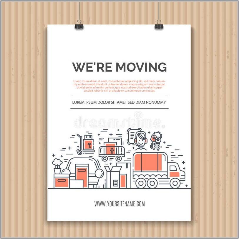 We're Moving Business Announcement Template