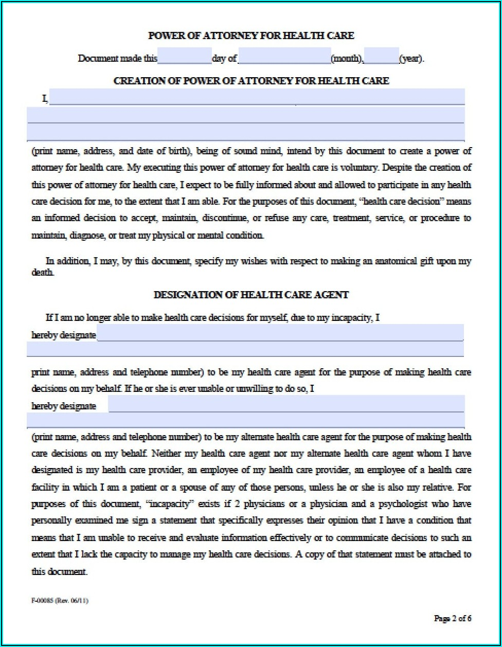 Where Can I Get A Medical Power Of Attorney Form