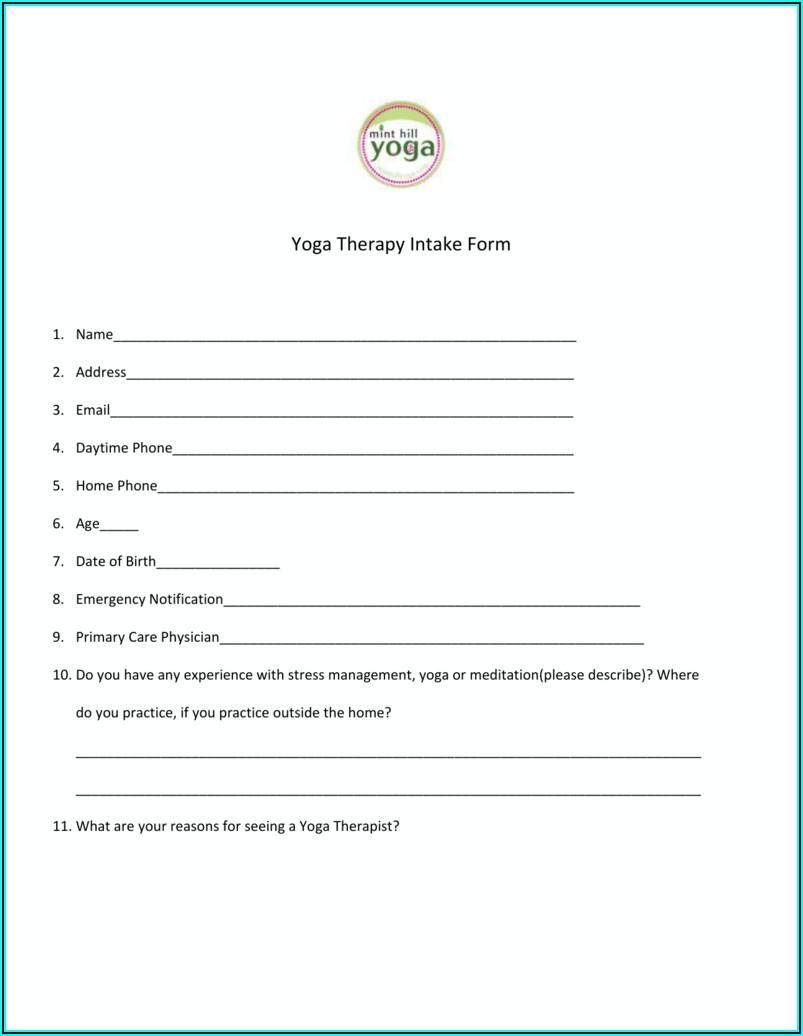 Yoga Therapy Intake Form