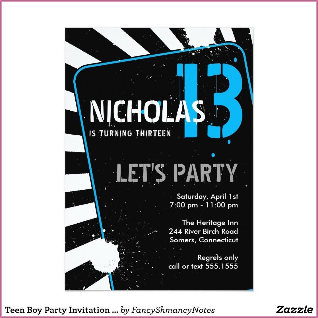 13th Birthday Invitations Ideas