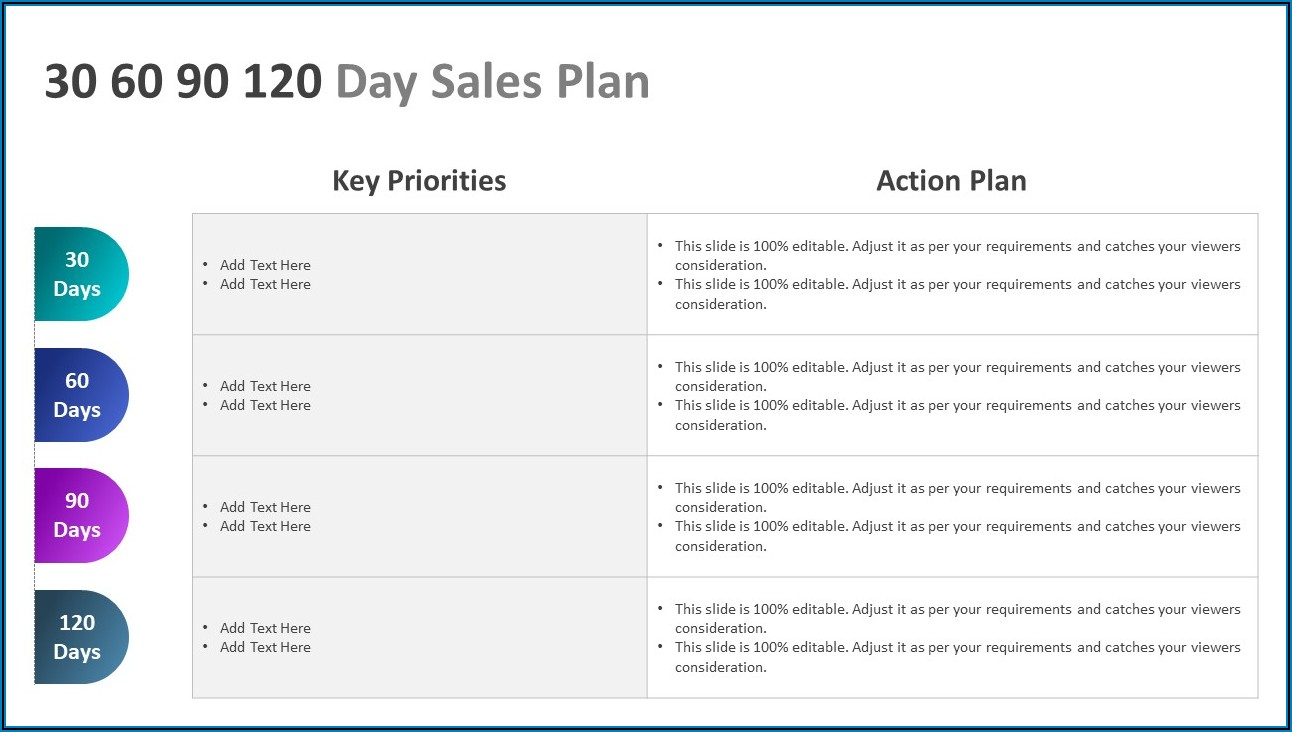 30 60 90 Day Sales Plan Template Powerpoint Free