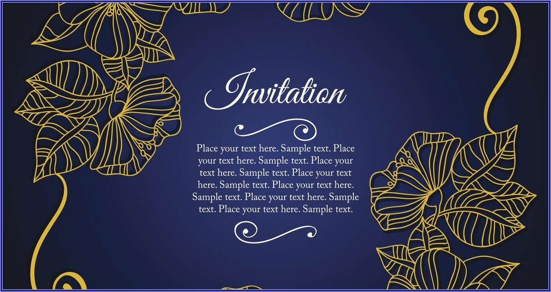 50th Wedding Anniversary Invite Templates