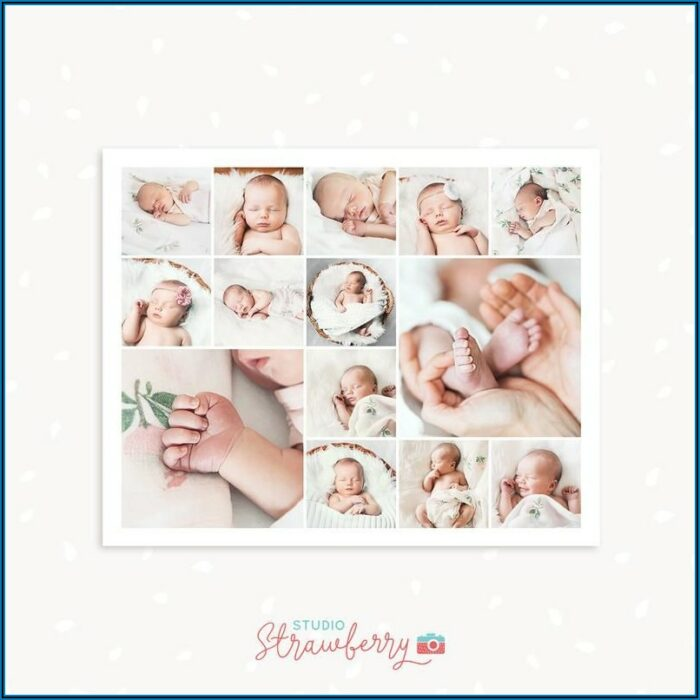 8x10 Collage Template Photoshop
