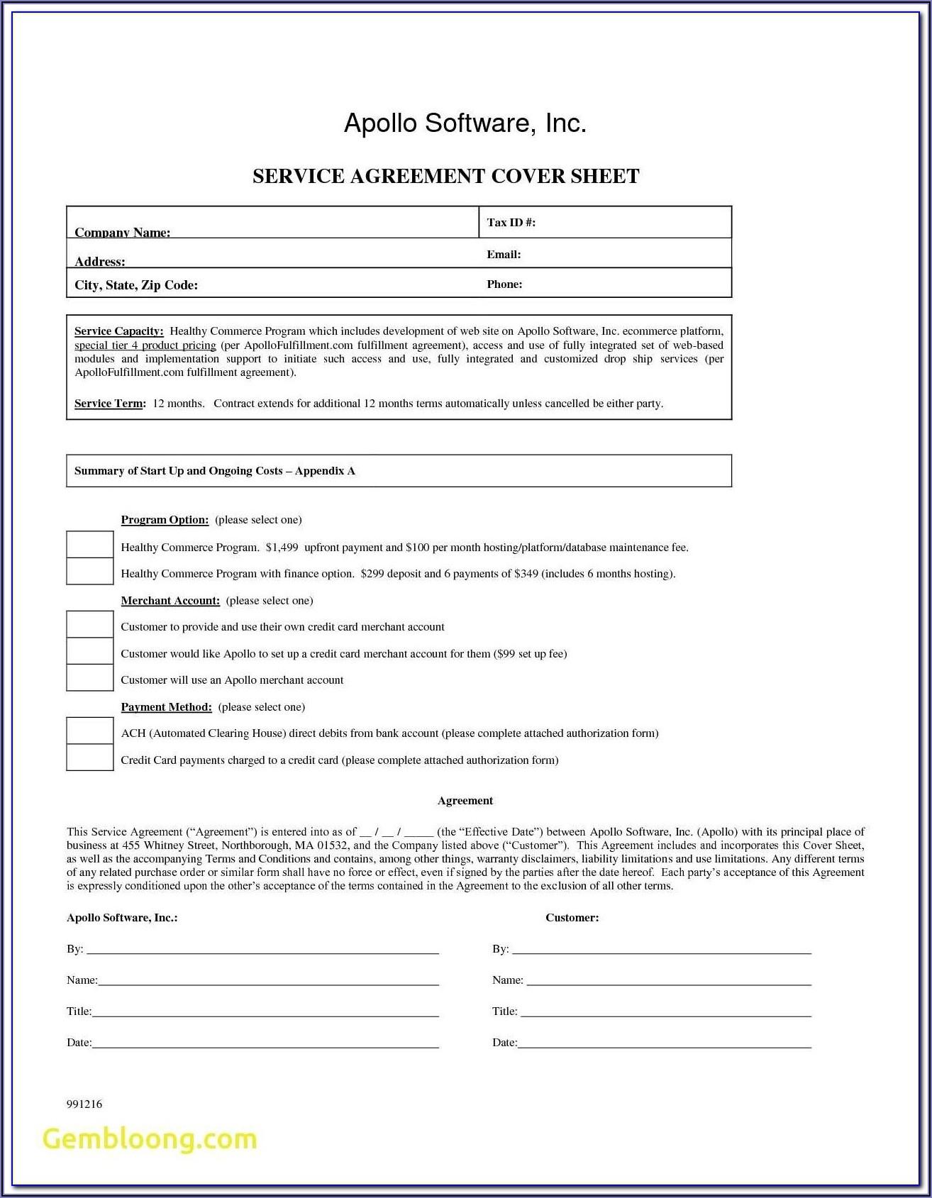 Ach Debit Authorization Form Template